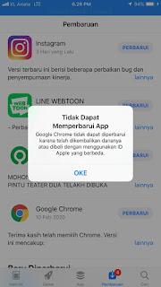 Cara Mengatasi Masalah Gagal Update Di Appstore