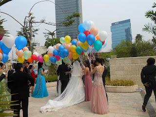 Balon Gas Pelepasan acara Pernikahan