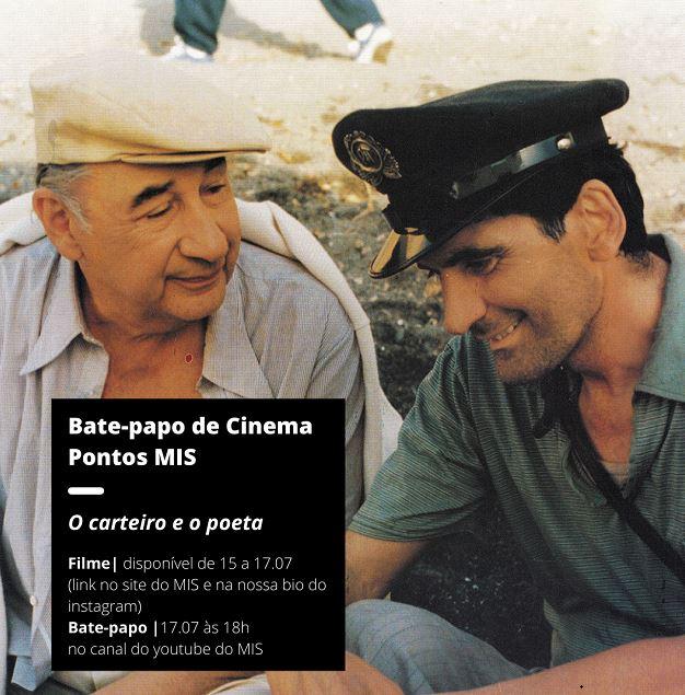 Pontos MIS e Cultura da Ilha apresentam bate-papo de cinema com o filme O carteiro e o poeta