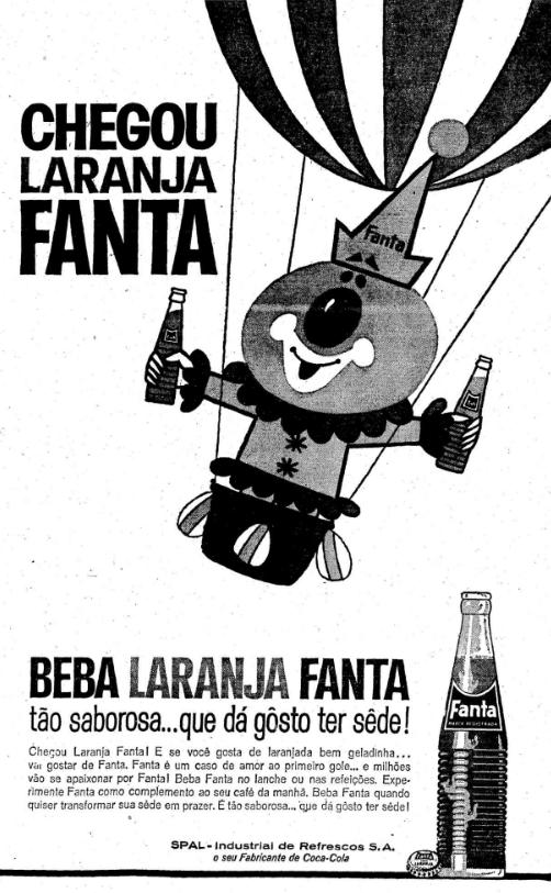Campanha publicitária de lançamento da Fanta Laranja em 1965