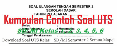 Contoh Soal Kelas 4 Semester 2 (Update 2017)