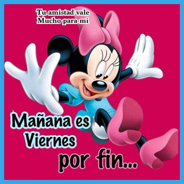 Minnie Mouse mañana es Viernes