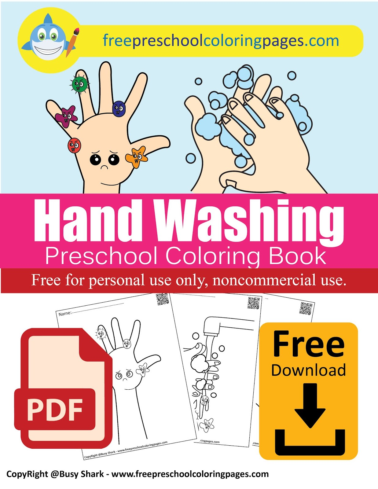 Hand Washing And Germs Activity For Kids