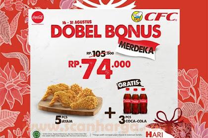 Promo CFC Terbaru DOBEL BONUS MERDEKA 16 - 31 Agustus 2019