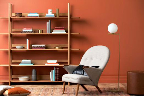 Safari Fusion blog | Colour crush: Ochre | The Colour Library by Haymes Paint | Wall colour Comanche Dust, Photography Martina Gemmola + Styling Ruth Welsby