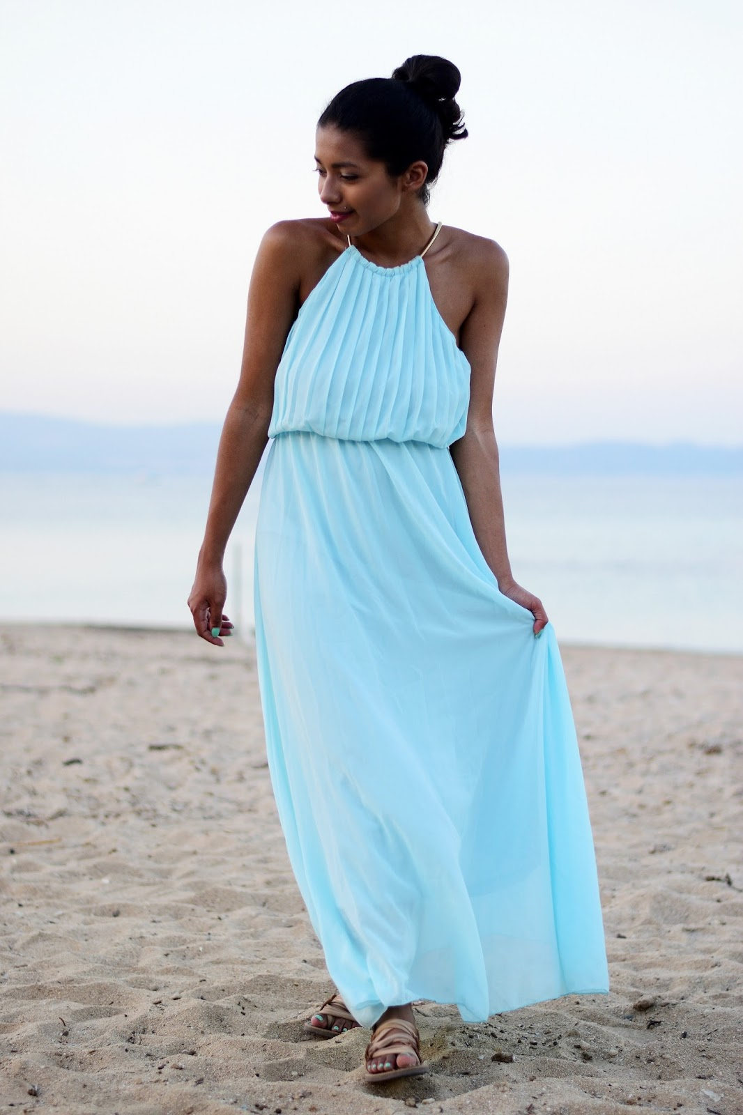 How to wear a formal grecian style dress in summer