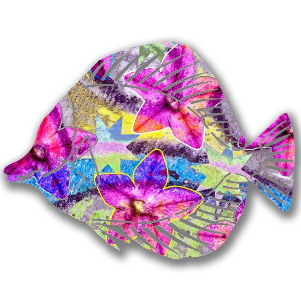 Steel Lilium Angel Fish 3D Wall Decor