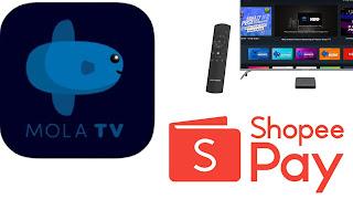 Cara bayar mola tv lewat Shopeepay