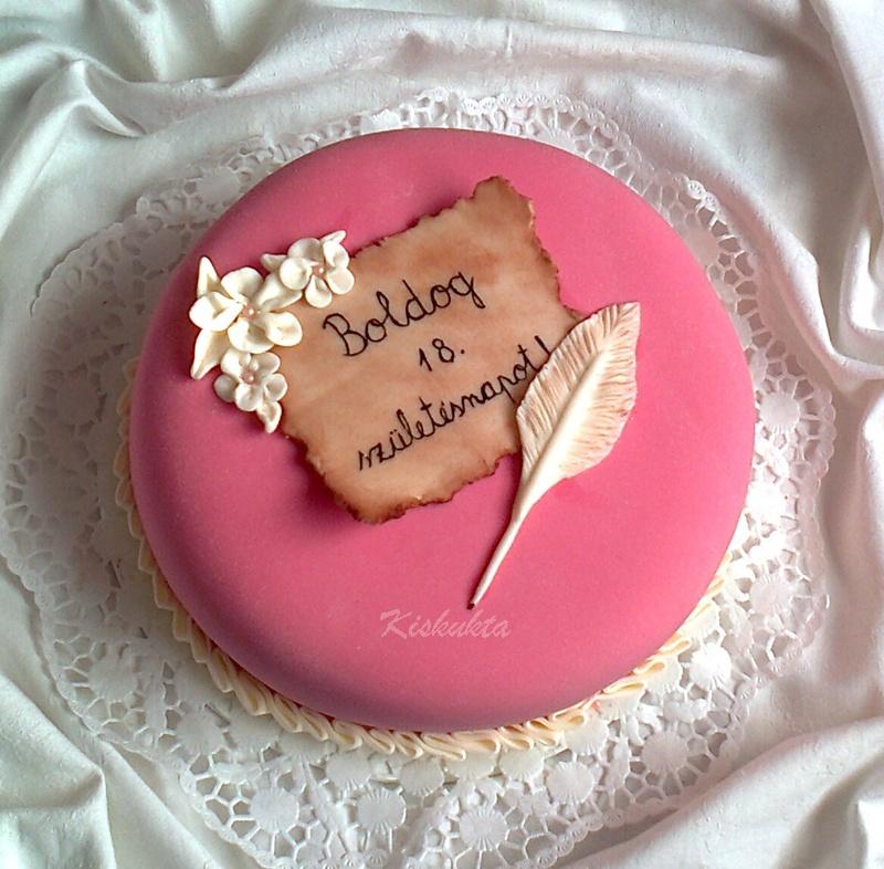 rózsaszín szülinapi torta Kiskukta torta: Szülinapi torta rózsaszínben rózsaszín szülinapi torta
