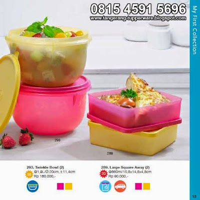 Twinkle Bowl & Large Square Away dengan warna cantik
