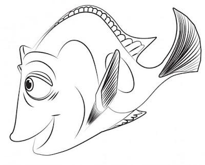 Sketsa Gambar Ikan Laut Serem