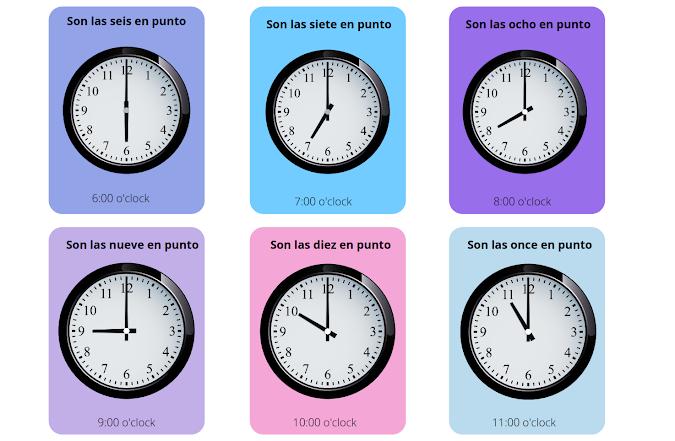 8 o'clock in spanish