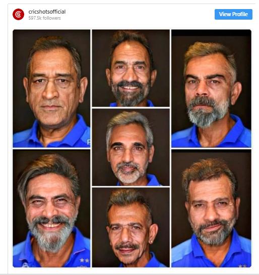 indian Cricket team faceapp