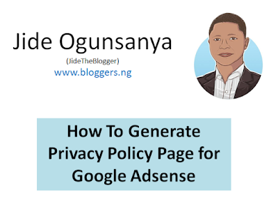 make blog privacy policy for adsense