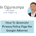 The Adsense Privacy Policy Generator I Use and How To Use it (Videos)