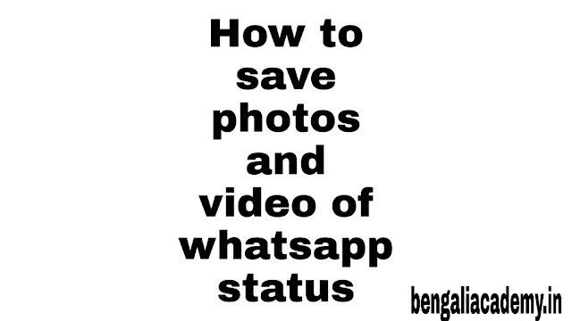How To Save A Photo And Video From Whatsapp Status