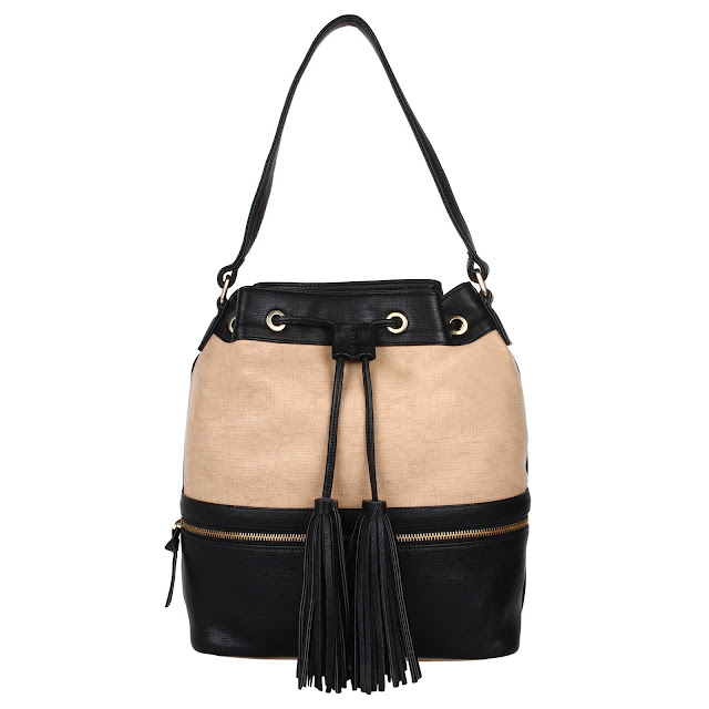BLACK BEIGE BUCKET BAG 1900