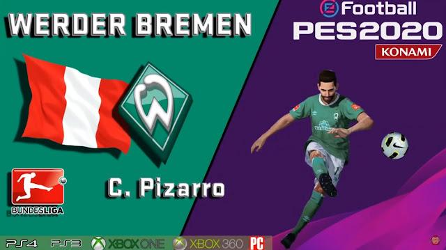 PES 2020 Claudio Pizarro Face by maquiavelo40