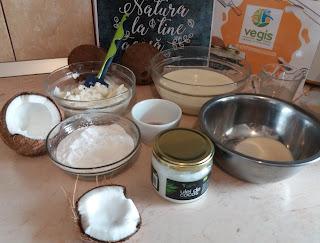 ingrediente mousse de cocos