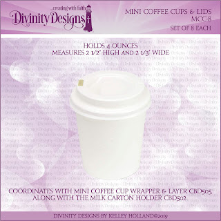 MINI COFFEE CUPS & LIDS (SET OF 8)