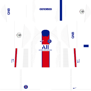 Paris Saint-Germain (PSG) - Dream League Soccer 2021 Forma Kits & Logo