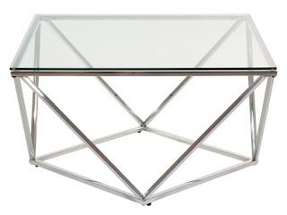 mesa centro estilo actual acero