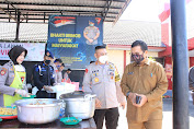 Walikota Makassar Kunjungi Dapur Lapangan TNI-Polri di Mako Brimob Polda Sulsel