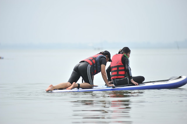 SUP training in Tri An