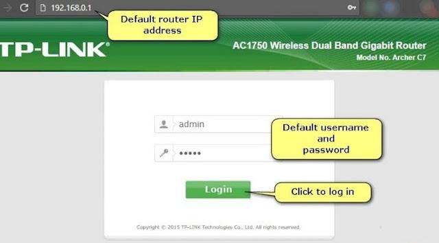 Buka Admin Router dan Log In Router lewat Browser