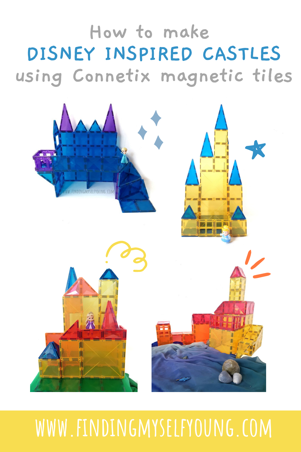 how to build disney inspired castles with connetix magnetic tiles