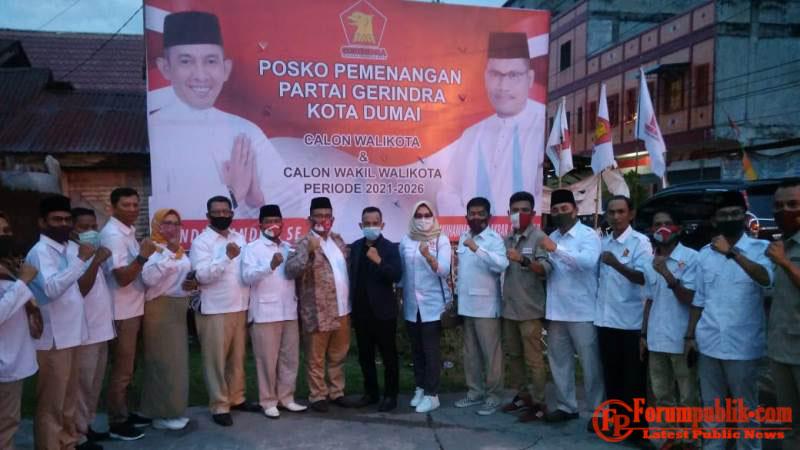 Konsolidasi DPC Partai Gerindra Bersama Cawako dan Cawawako Dumai Periode 2021-2026, Berjalan Sukses