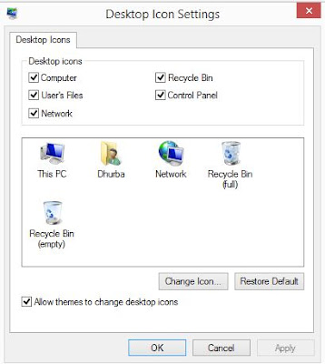 How to add or remove Recycle Bin from desktop in Windows PC