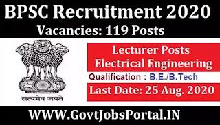 Govt Jobs for 119 Lecturer (Electrical Engineering) Posts