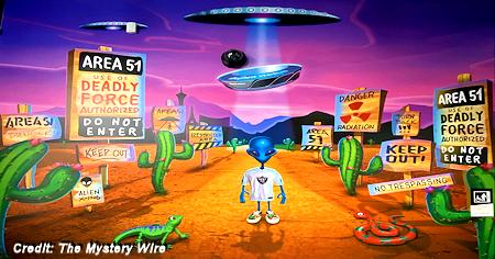 Area 51 Themed Bar at The Las Vegas Raiders Allegiant Stadium