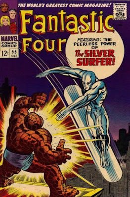 Fantastic Four #55, The Thing vs the Silver Surfer