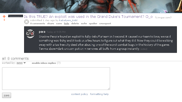 Is this TRUE? An exploit was used in the Grand Duke's Tournament