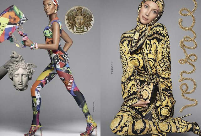 Campaña de Primavera/Verano 2018 Versace con supermodelos como Cindy Crawford, Naomi Campbell o Claudia Schiffer