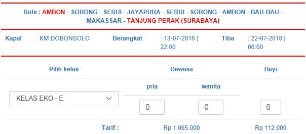 jadwal kapal ambon Surabaya