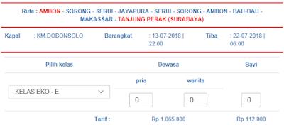 Jadwal Pelni Ambon Surabaya 2018 [UPDATE]