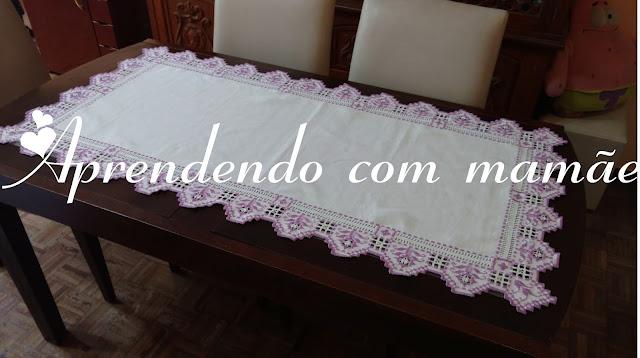 gráfico de toalhas, pap, toalha hardanger, centro de mesa lilás, hardanger, artesanato, tesoura garça toke e crie, Acrilex, cânhamo döhler