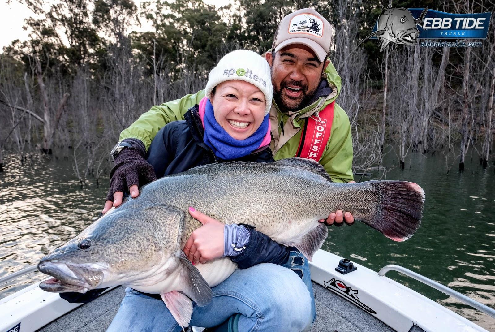 Ebb tide tackle the blog fishing kaki and the murray cod for Joy fishing tackle
