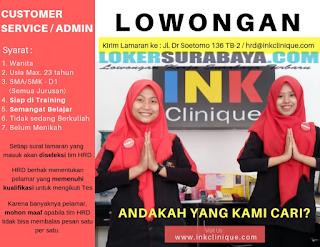 Bursa Kerja Surabaya Terbaru di Ink Clinique Juni 2019