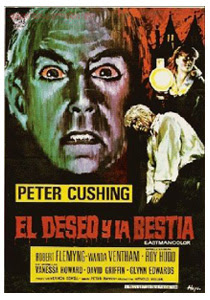El deseo y la bestia / Poster Español