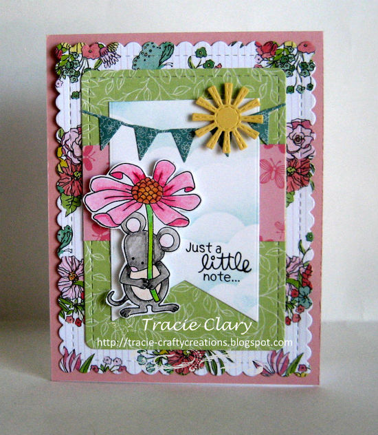 Just a little note by Tracie features Garden Mice and Frames & Flags by Newton's Nook Designs; #newtonsnook