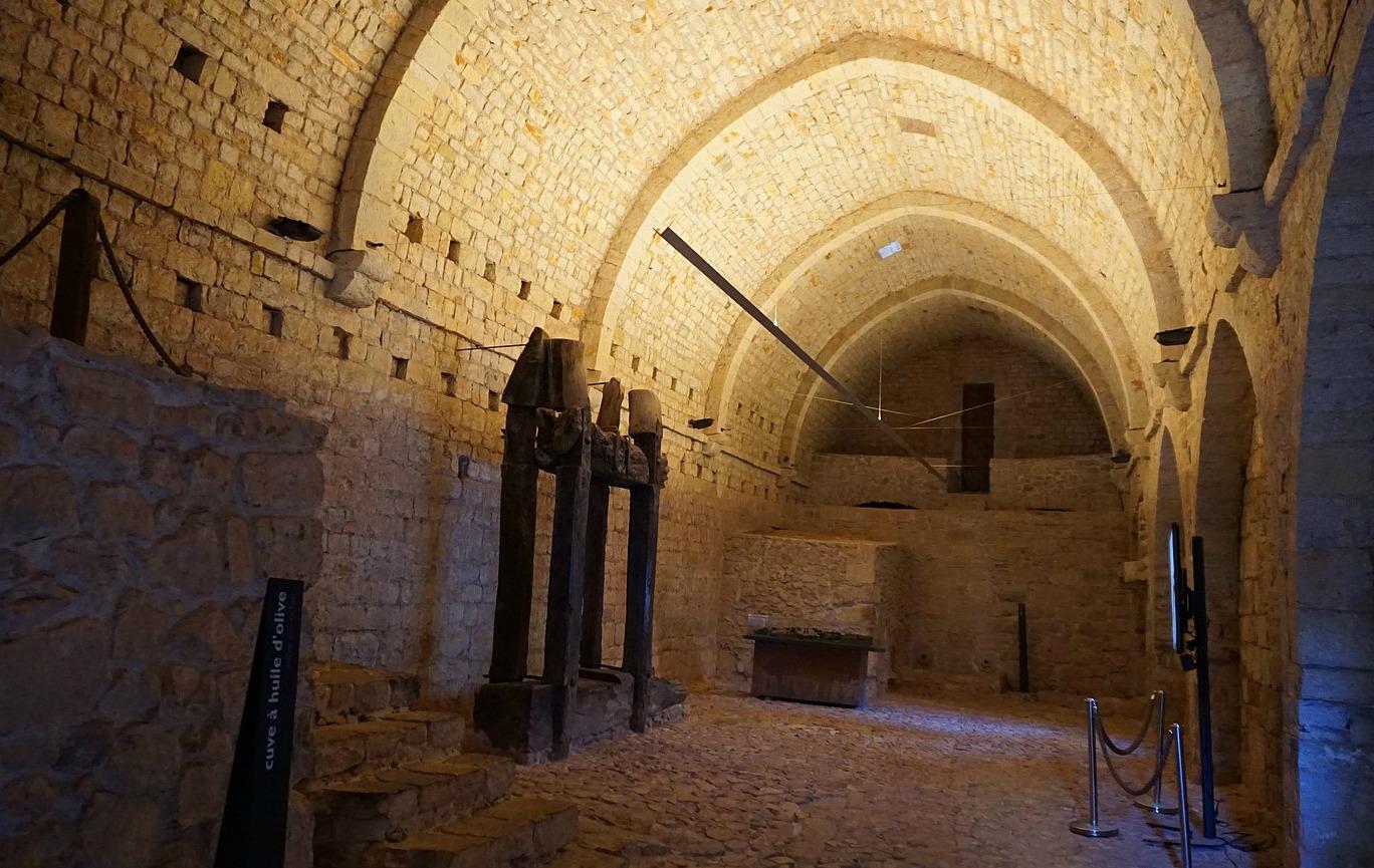 Le Thoronet Abbey cellar