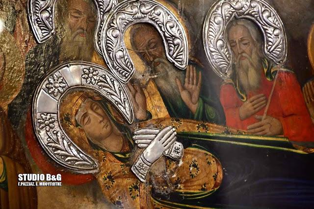 Ο Μητροπολίτης Αργολίδας στην πρώτη παράκληση στην Θεοτόκο στην Ευαγγελίστρια Ναυπλίου