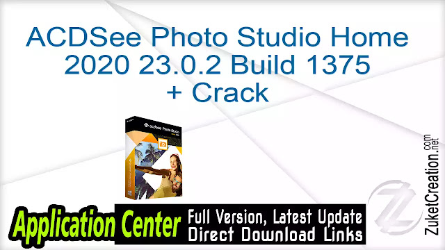 ACDSee Photo Studio Home 2020 23.0.2 Build 1375 + Crack