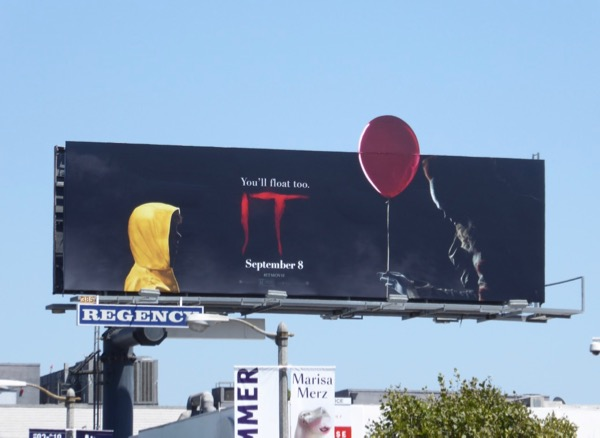 IT movie balloon cut-out billboard