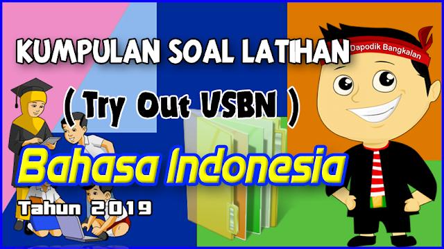 Kumpulan Soal Latihan Try Out USBN  BAHASA INDONESIA Tahun 2019