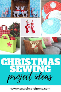 Giant list of Christmas sewing projects for beginner sewers to advanced.  Loads of fun free sewing projects and gift ideas for the holiday season.